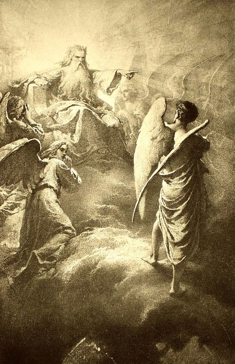 God casting out Lucifer.