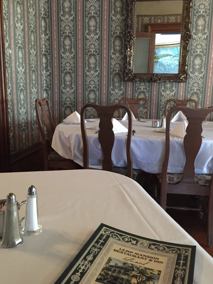 Dining room area in Lemp Mansion Restaurant