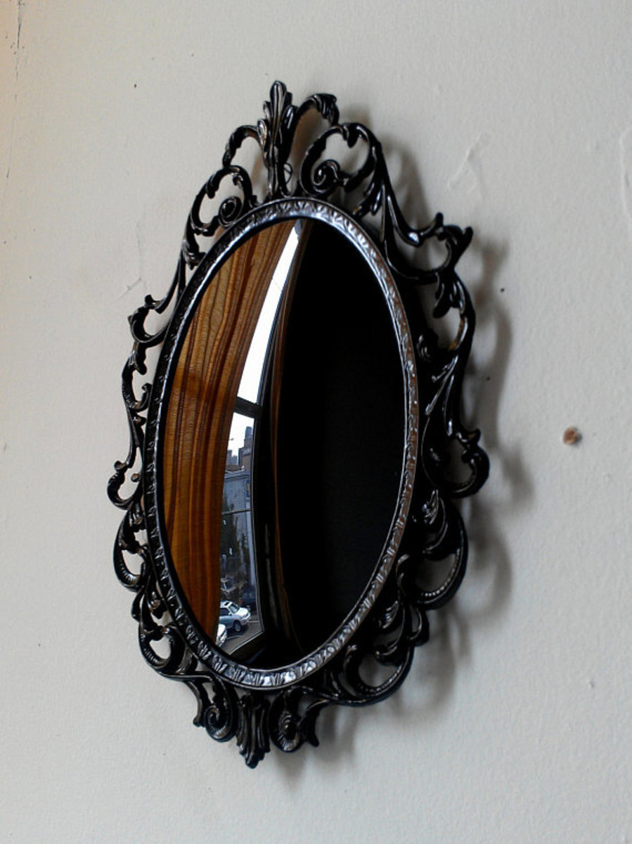 Black mirrors, similar in design to this one, are used by some to make contact with the spirit world.