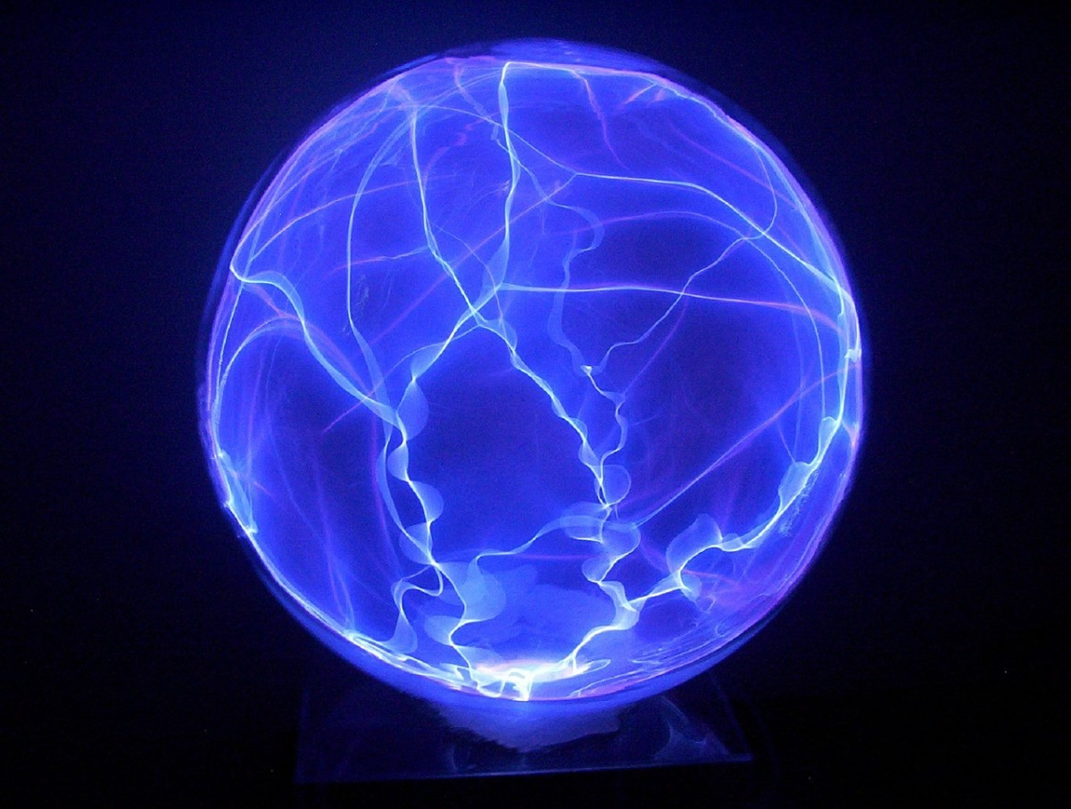 As you visualize your circle transforming into a sphere, you can imagine it looking something like this plasma globe.
