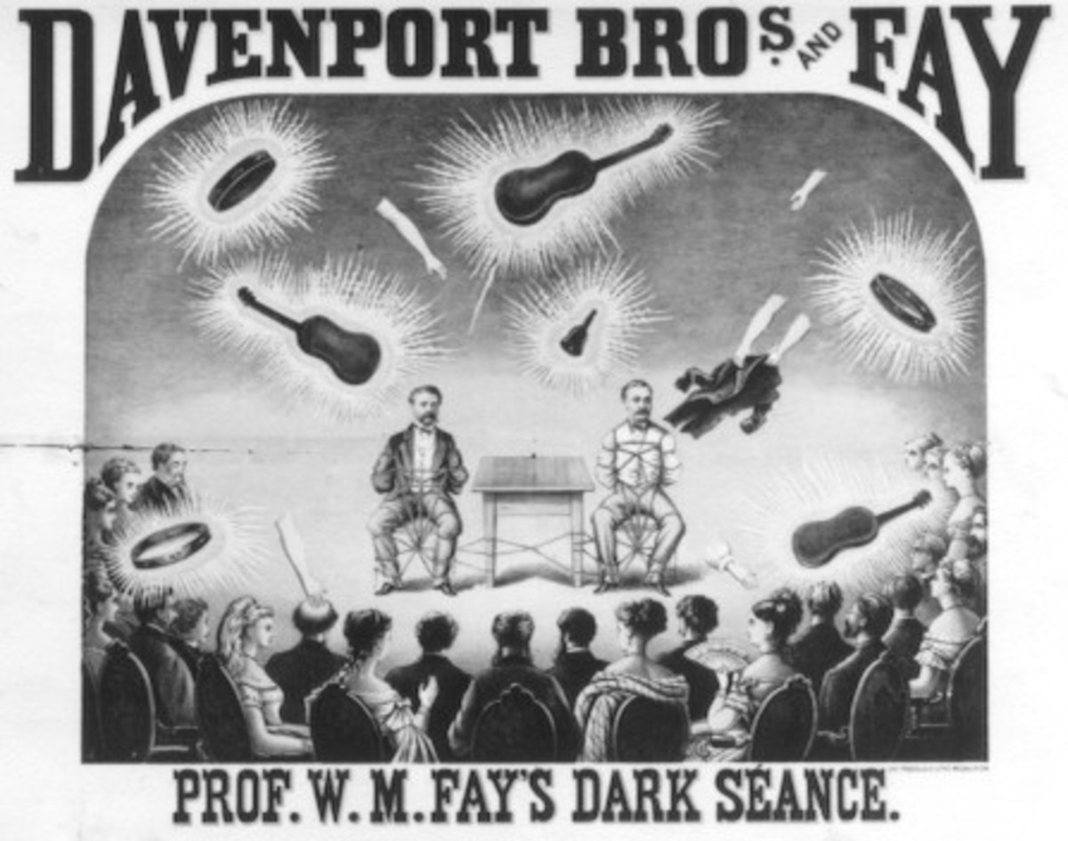 An advertisement for the Davenport Brothers.
