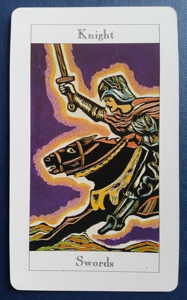 The Knight of Swords from my Tarot deck