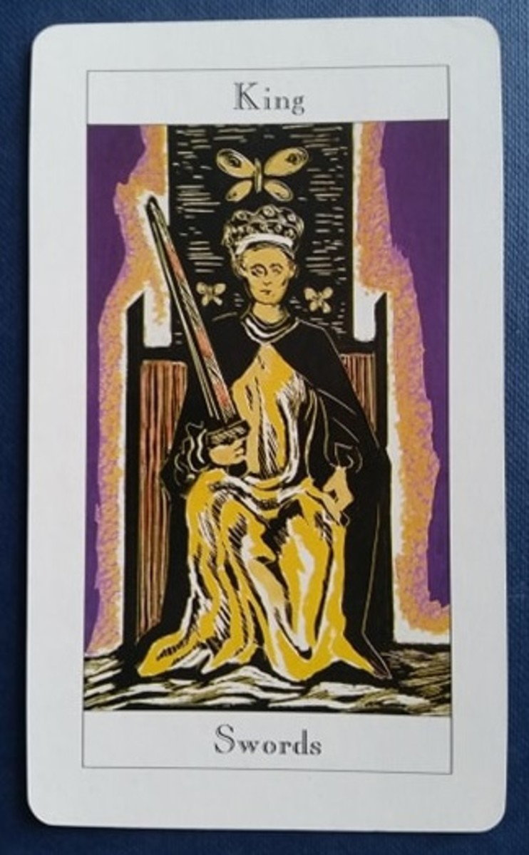 The King of Swords from my Tarot deck