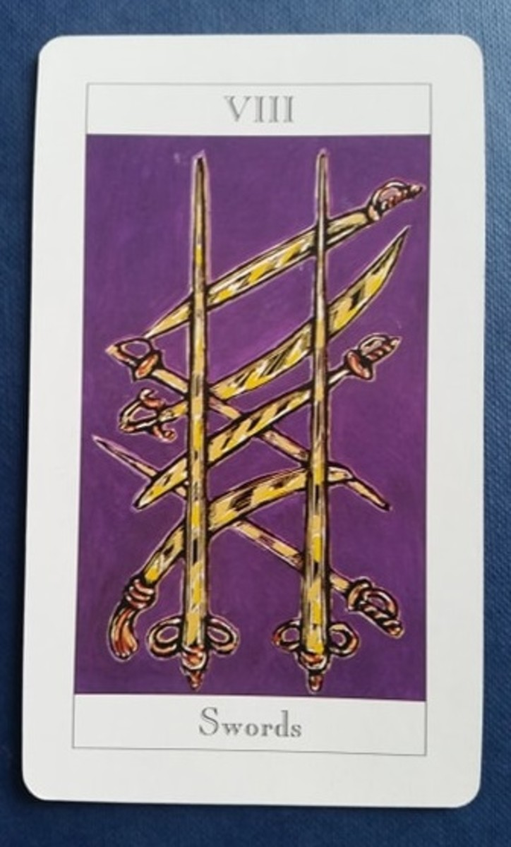The Eight of Swords from my Tarot deck