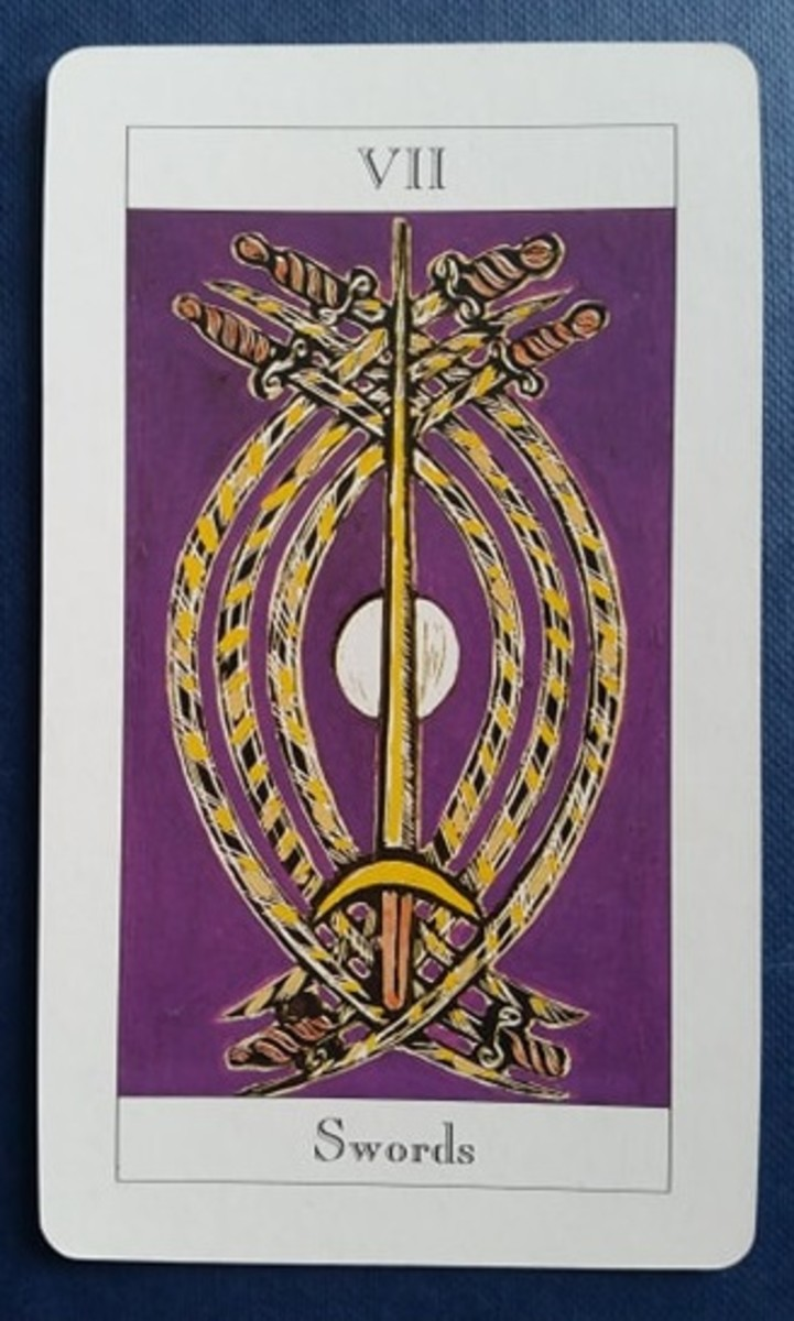 The Seven of Swords from my Tarot deck