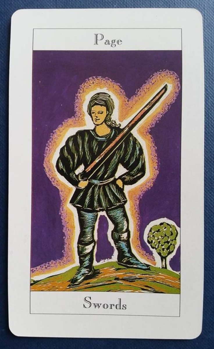 The Page of Swords from my Tarot deck