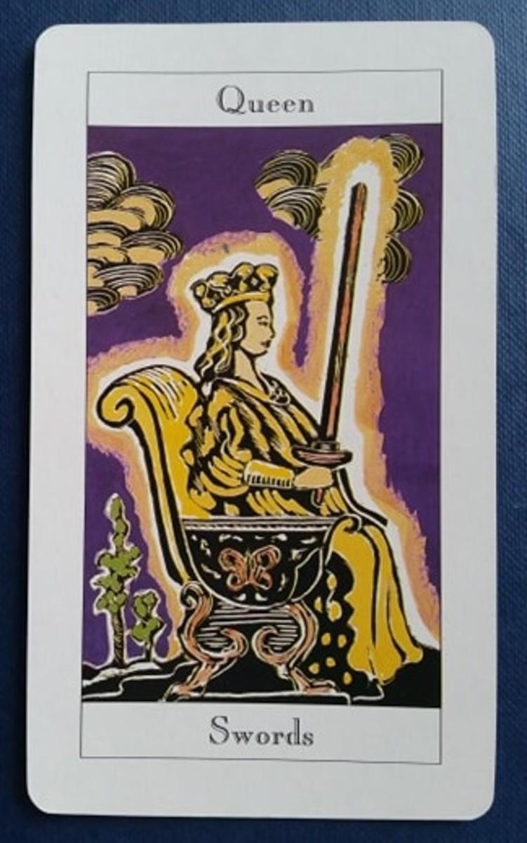 The Queen of Swords from my Tarot deck