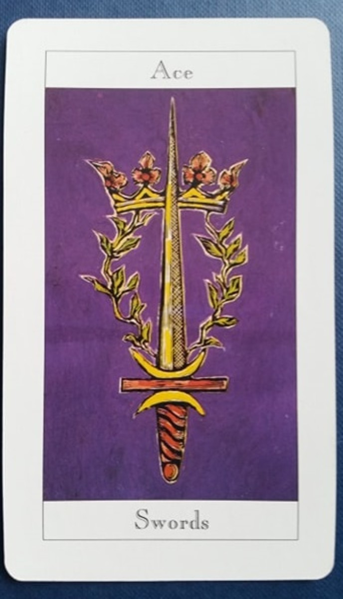 The Ace of Swords from my Tarot deck