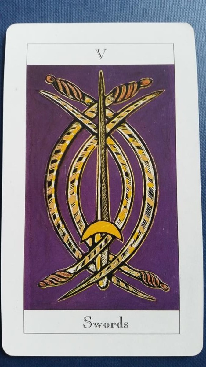 The Five of Swords from my Tarot deck