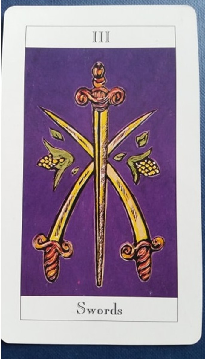 The Three of Swords from my Tarot deck