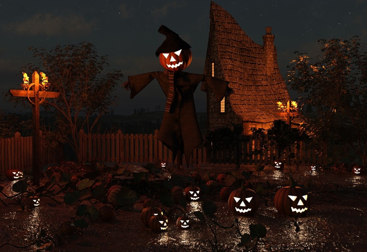 The origin of the jack-o-lantern may have been to ward off evil and unwanted spirits.