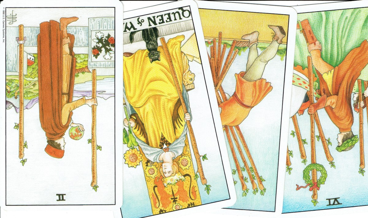 The Suit of Wands--reversed cards