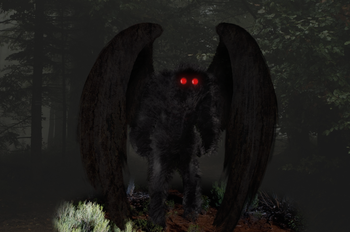 Mothman sightings are most often reported in remote wooded areas.