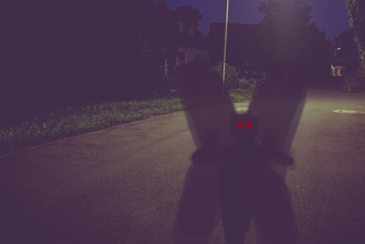 Mothman is most often encountered at night.
