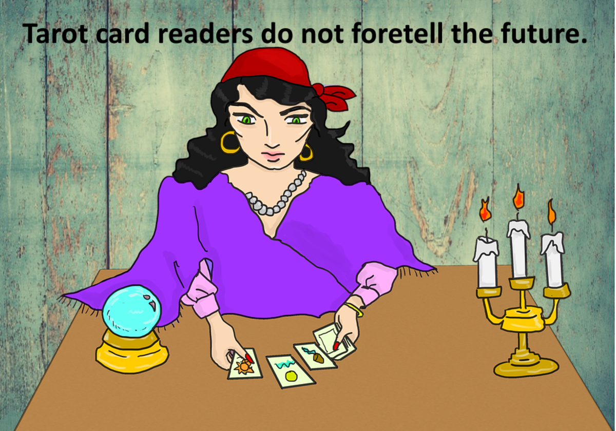 Tarot cards to not predict the future. They use human projection and archetypes to figure out what is going on inside.