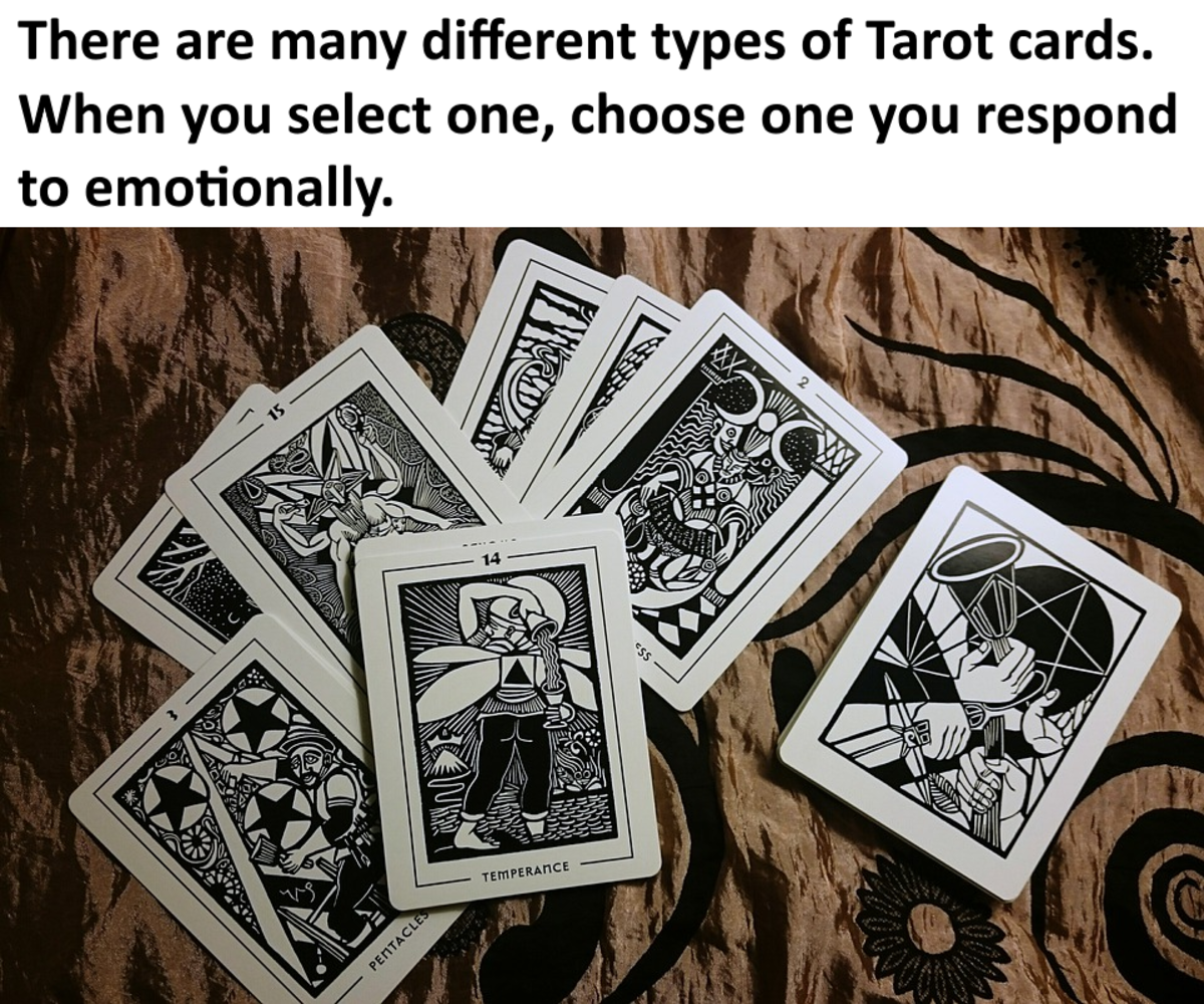 arot cards all have illustrations that visually show us the situations in our own lives.