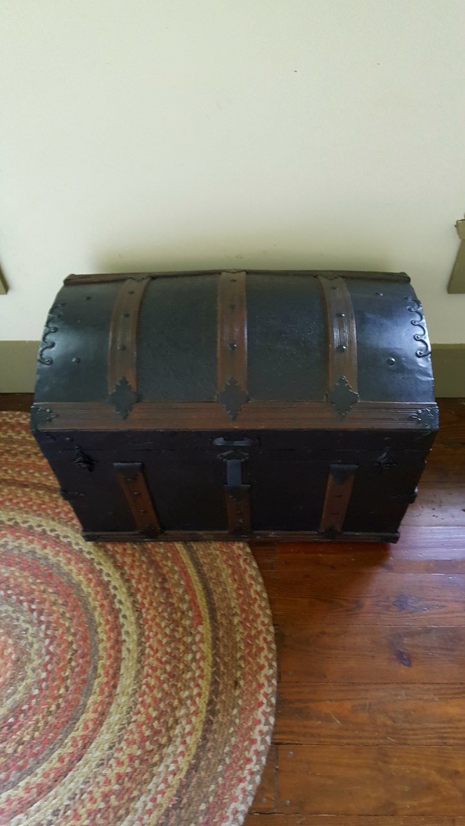 Original Kennedy Family trunk from the 1800's.