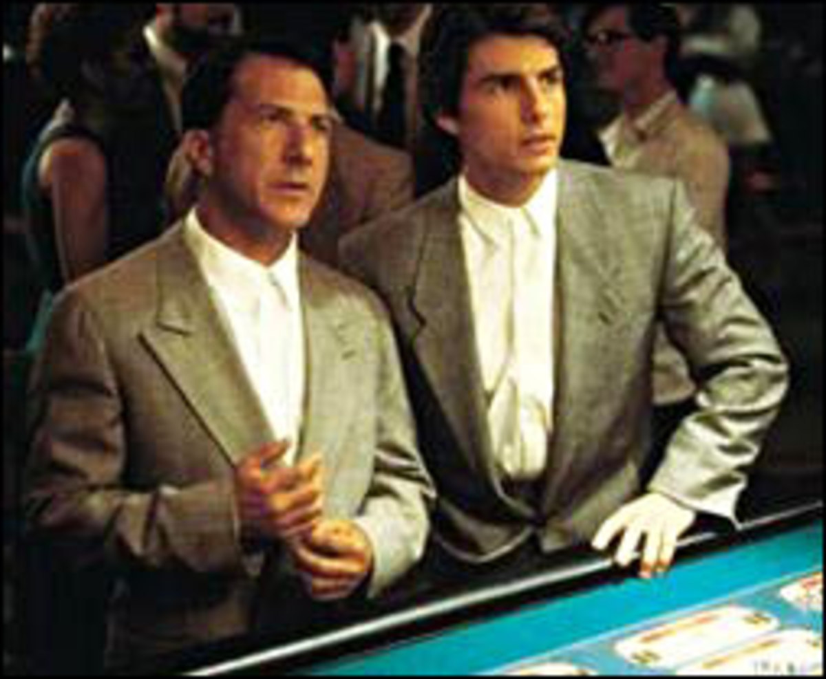 Tom Cruise and Dustin Hoffman in The Rain Man