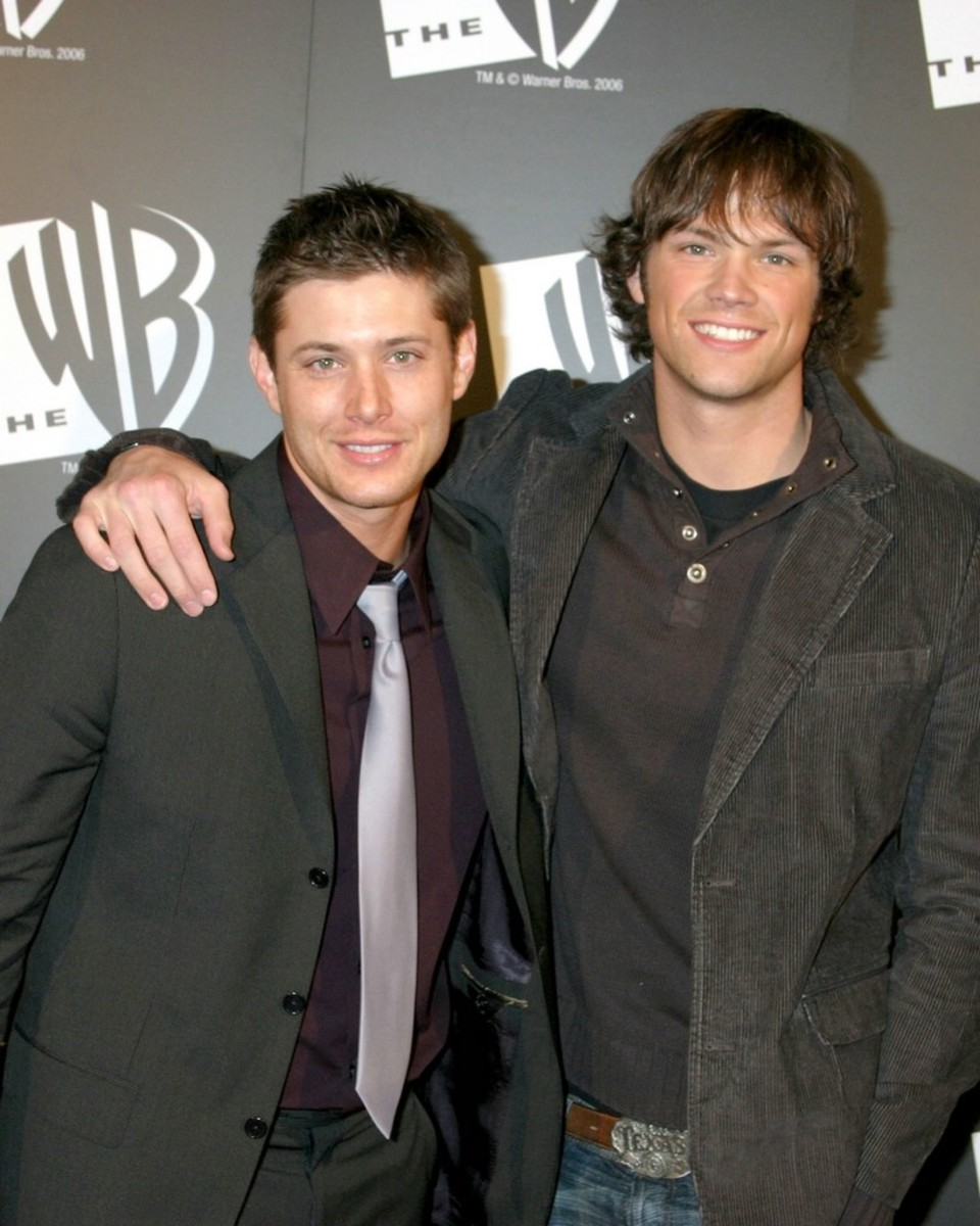 With Supernatural costar Jared Padalecki