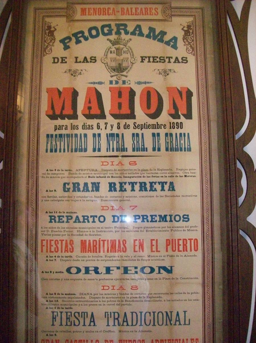Old poster in the Municipal Hall.