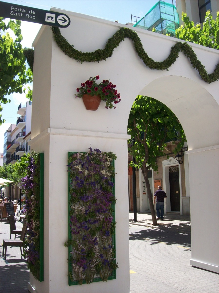 This fake arch looked so good a friend asked where it was in Mahon.