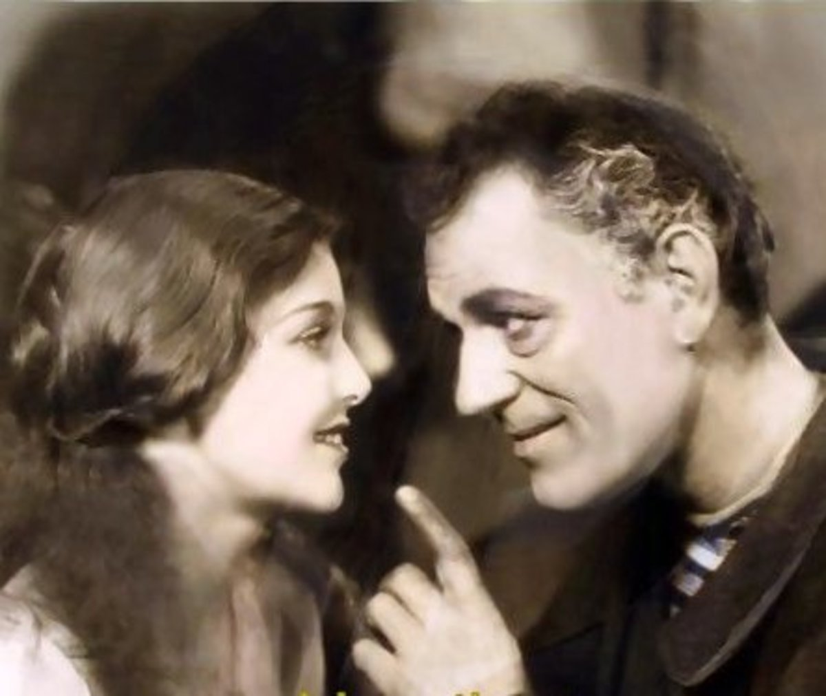 1929, aged 15, with Lon Chaney in 'Laugh, Clown, Laugh'