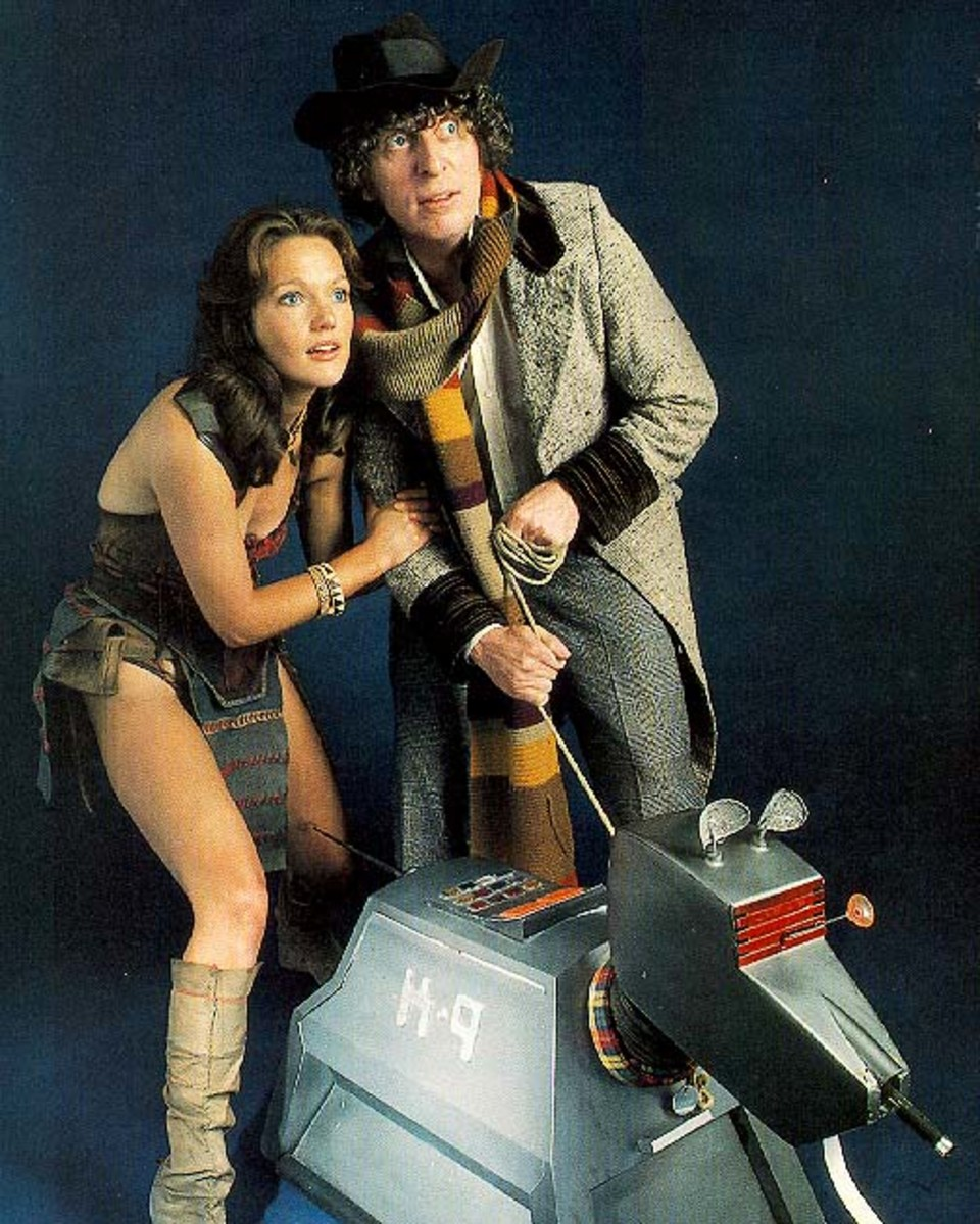 Louise Jamison and Tom Baker in Doctor Who