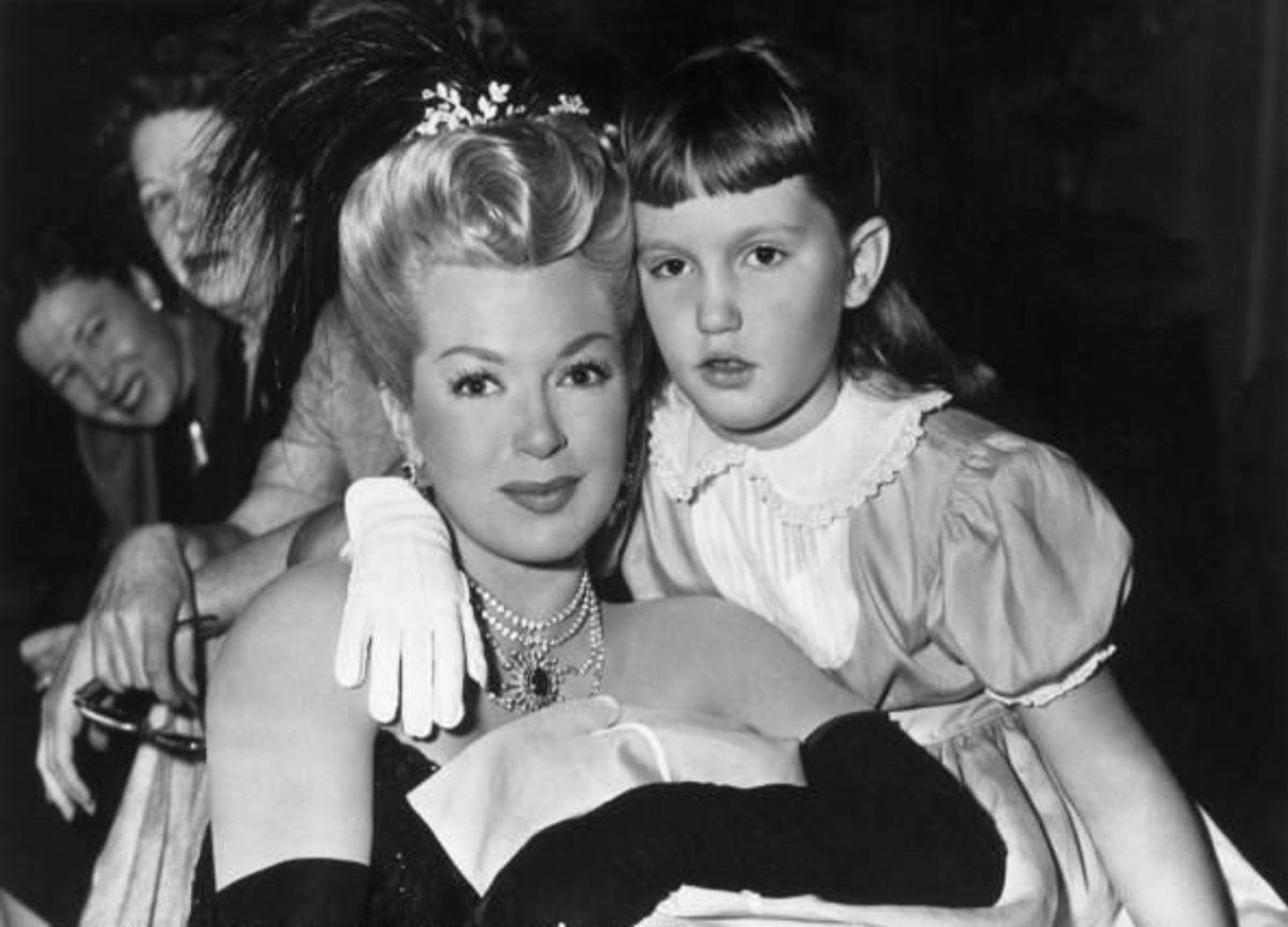 Lana and Cheryl in 1952