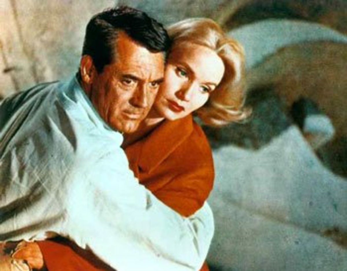 "Eva Marie Saint and Cary Grant in ""North by Northwest"""