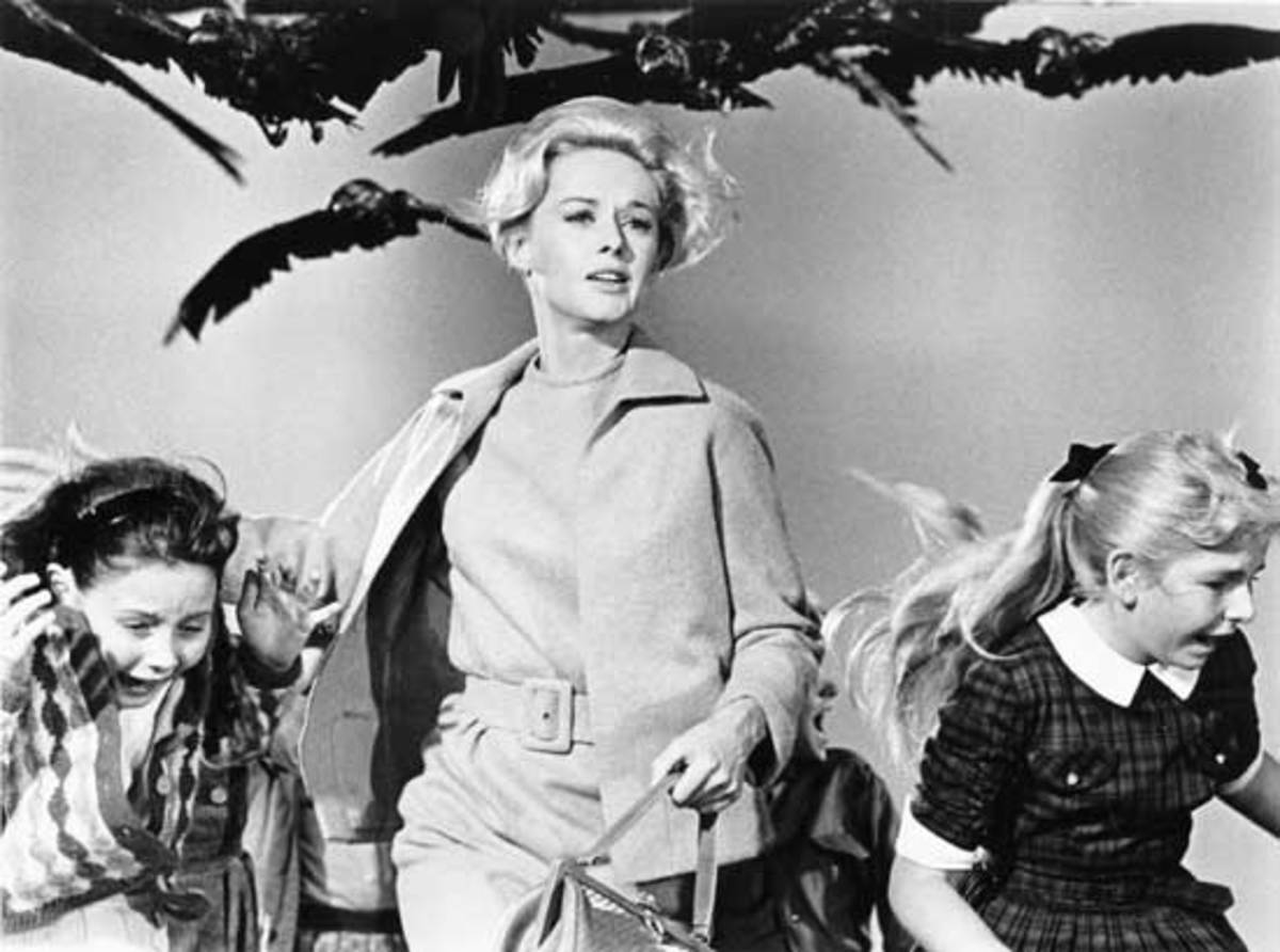 Tippi Hedren was even chic while running for her life.