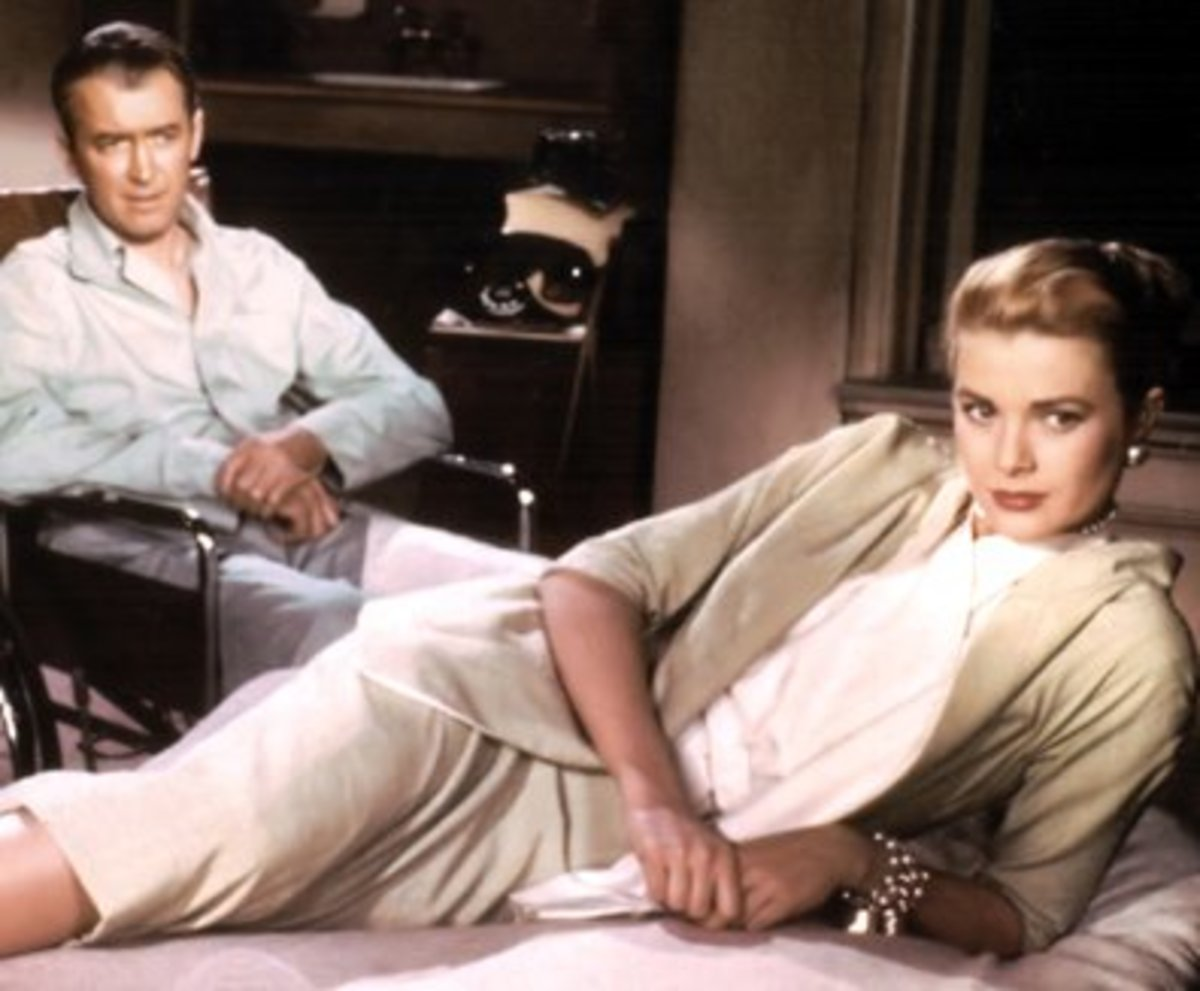 "Grace Kelly was a willing partner in Jimmy Stewart's voyeurism in ""Rear Window""."