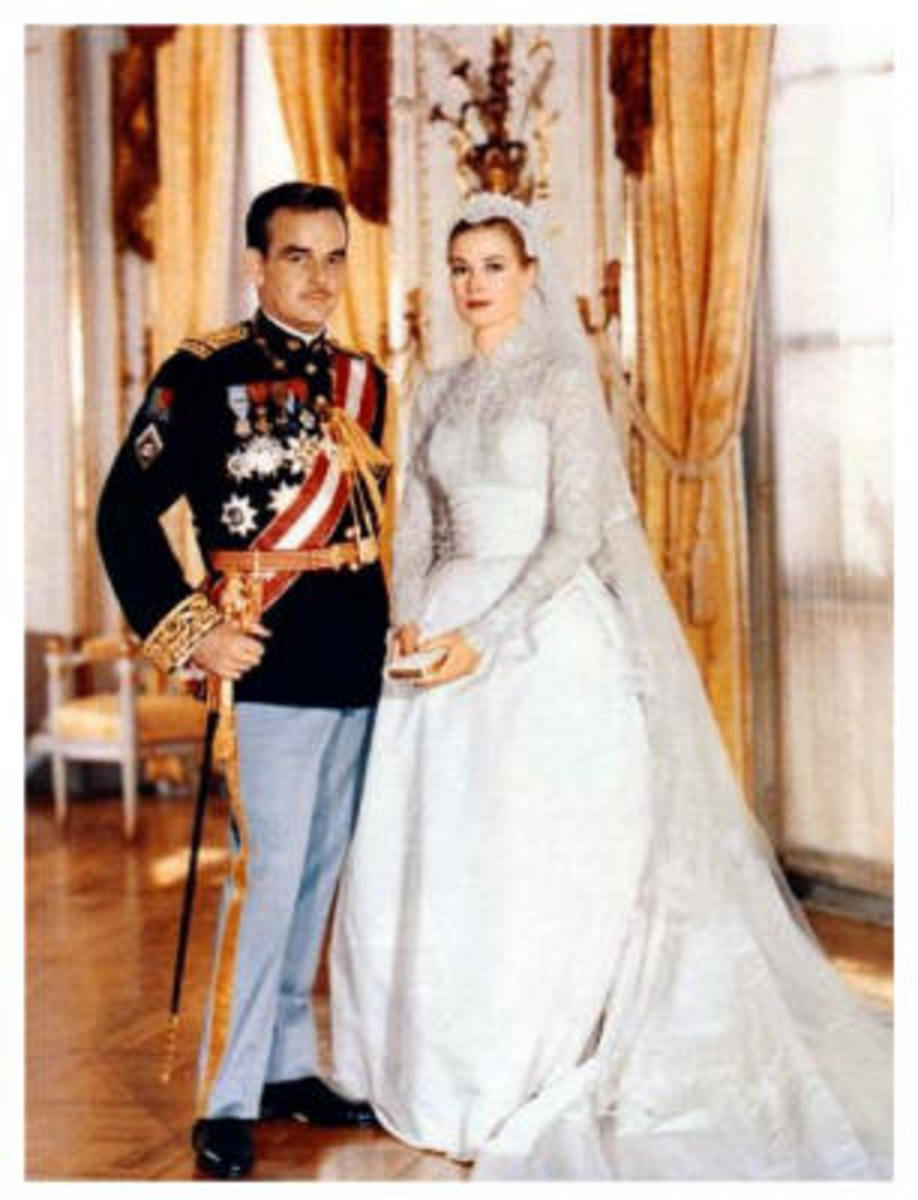 The Prince and Princess of Monaco on their wedding day.