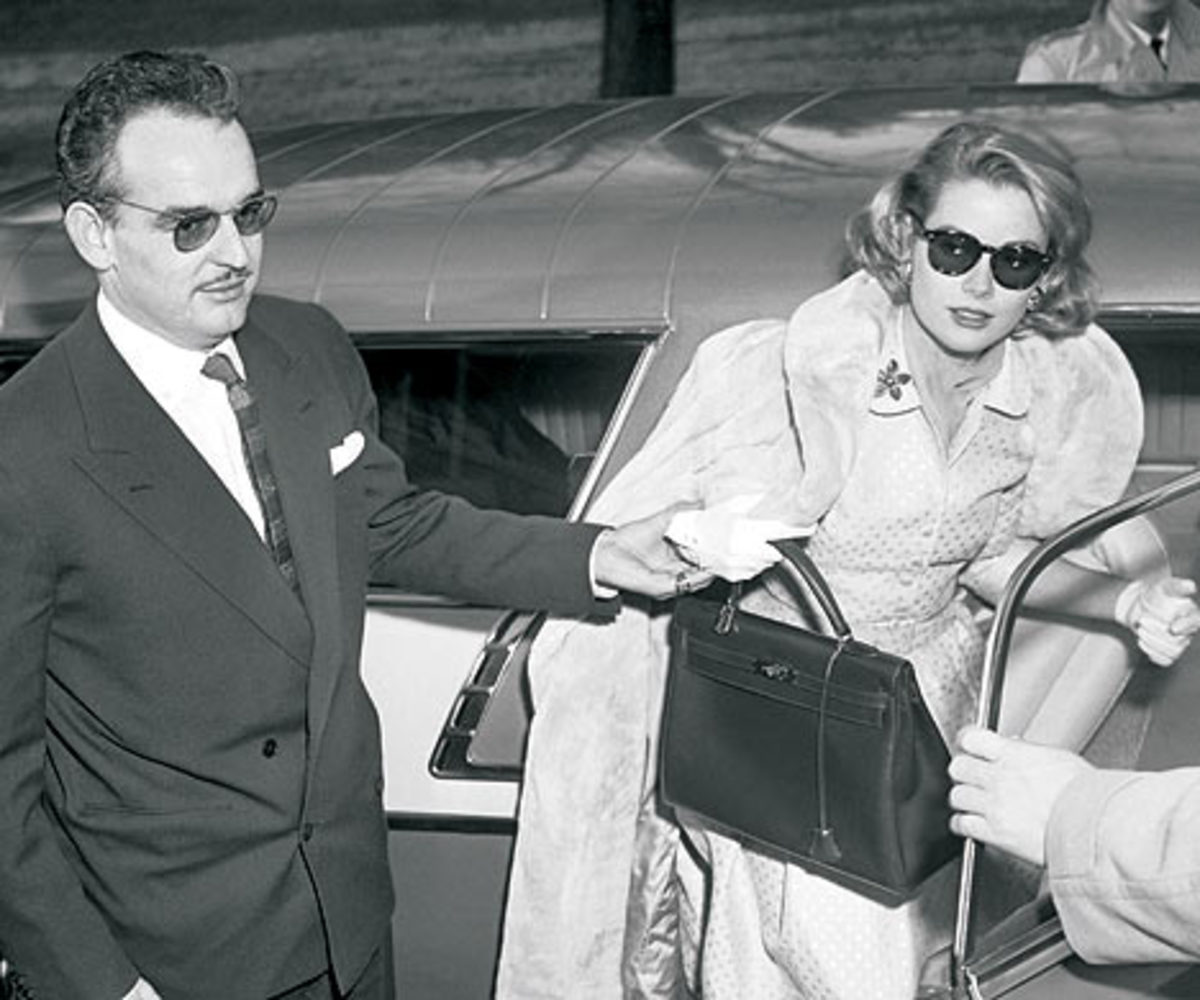 "Princess Grace used her favorite Hermes handbag to hide her pregnant tummy, after which the bad was named the ""Kelly"" in her honor."