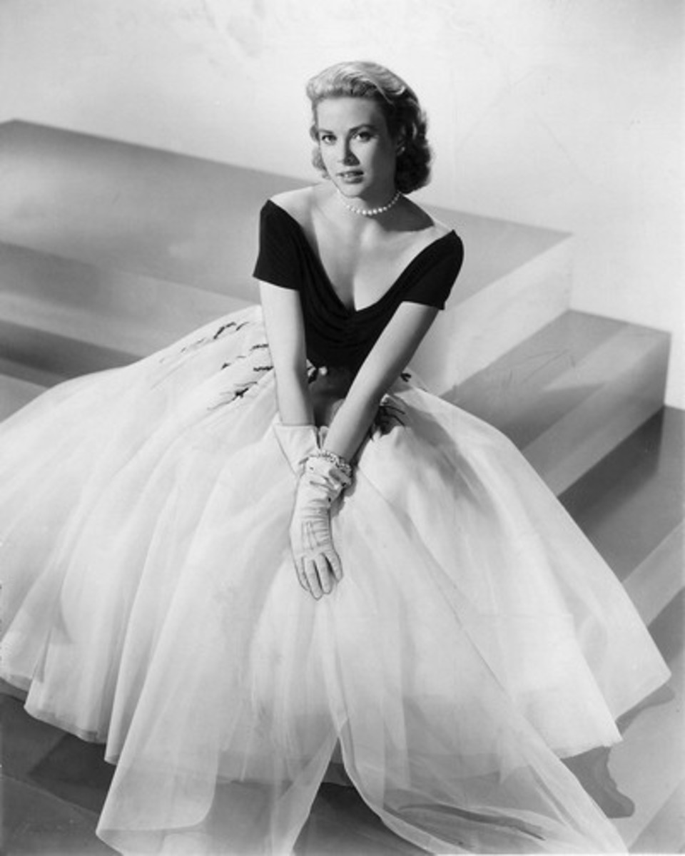 "The famous dress Grace wore in ""Rear Window"""