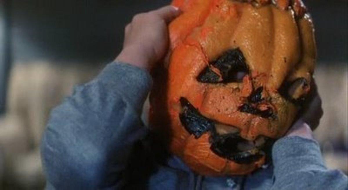 Pumpkin mask from Halloween III