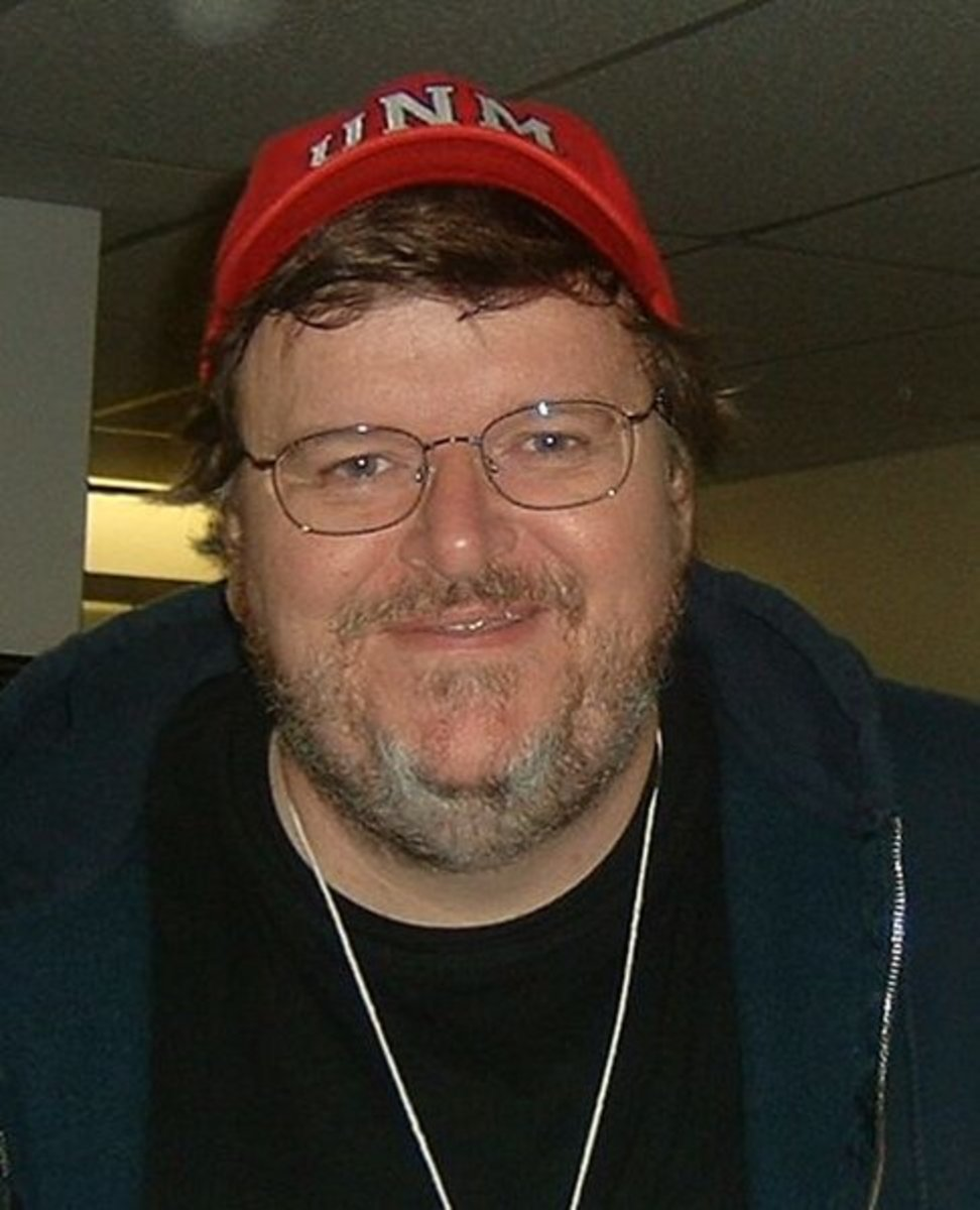 Michael Moore in October 2004
