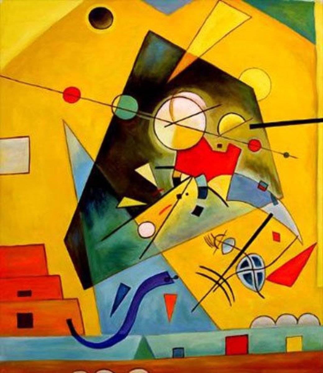 A Kandinsky painting much like the one in the film.