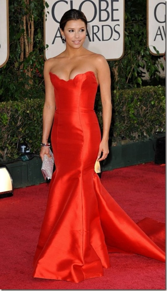 Eva Longoria in Red eveing gown