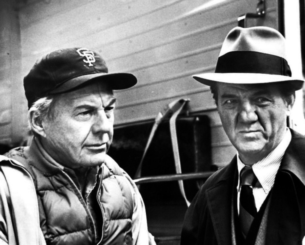 Karl Malden (right) as Mike Stone with David Wayne as Wally Sensibaugh, a newspaper person.