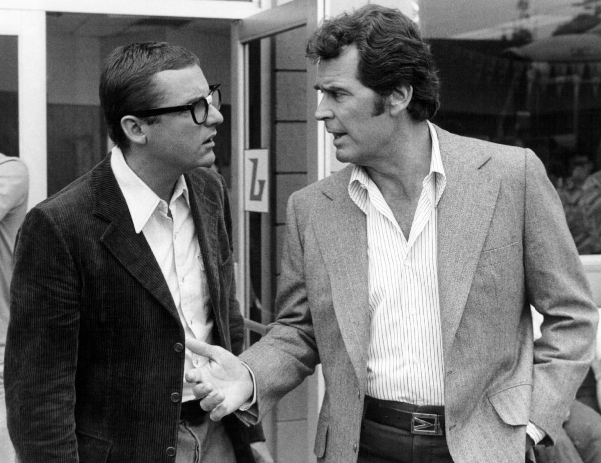 James Garner (right) as Jim Rockford.