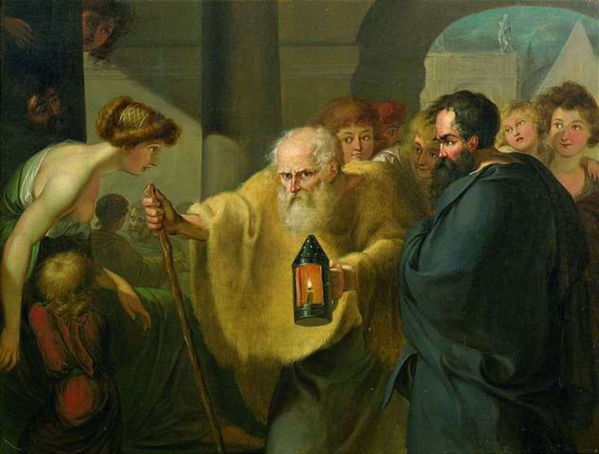 """Diogenes Looking for an Honest Man"" by JHW Tischbein"