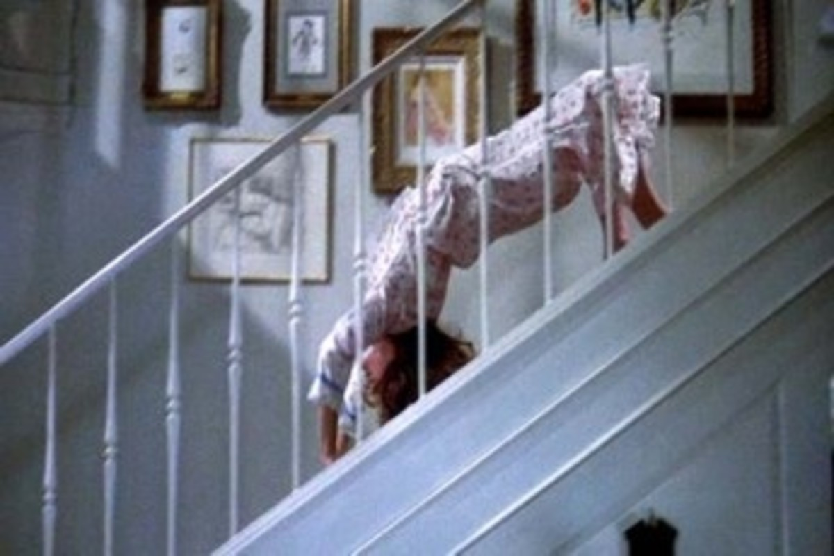 The Exorcist - Regan's shudderific spider-walk down the stairs