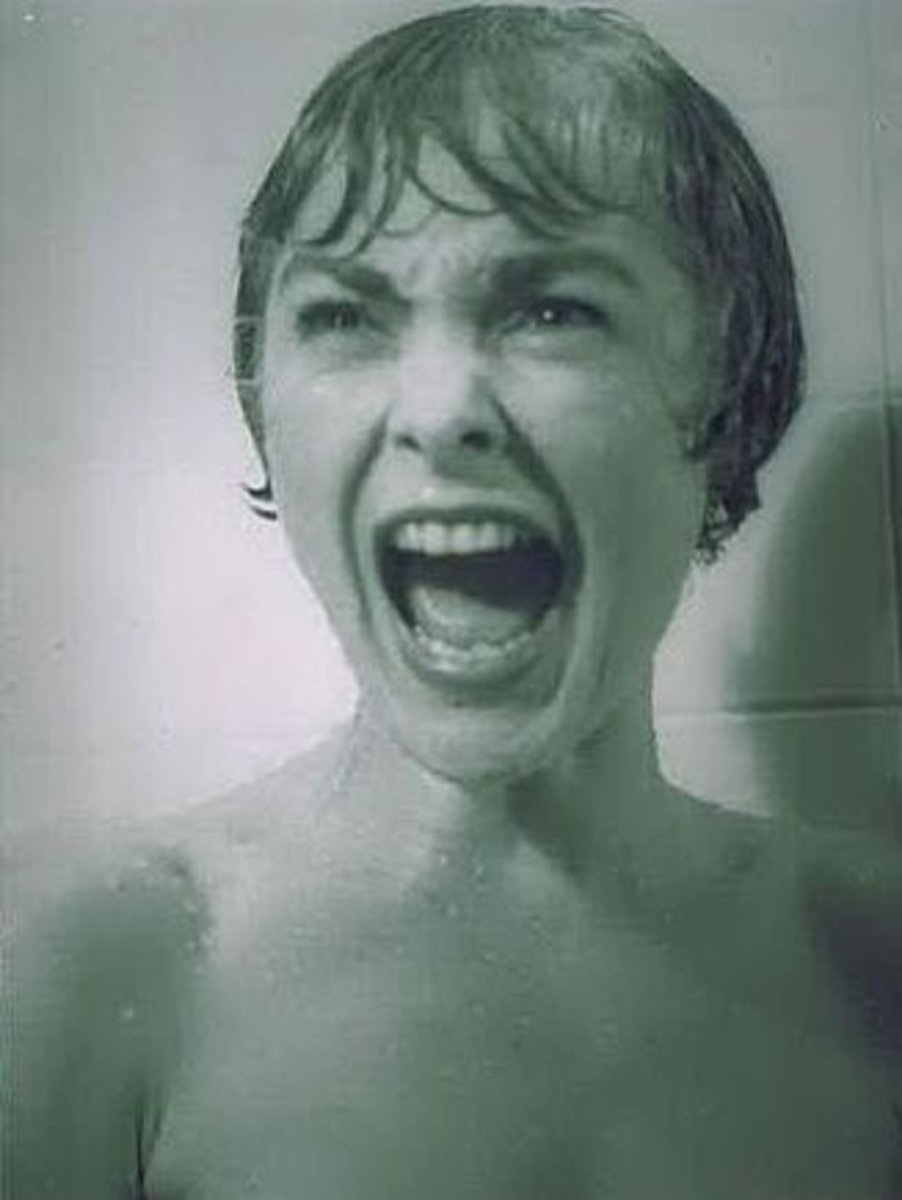 Psycho - the classic shower scene featuring Janet Leigh
