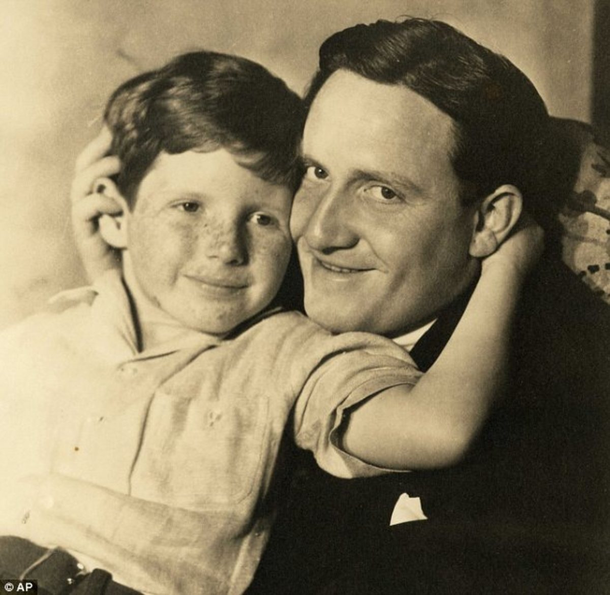 Young John with his father