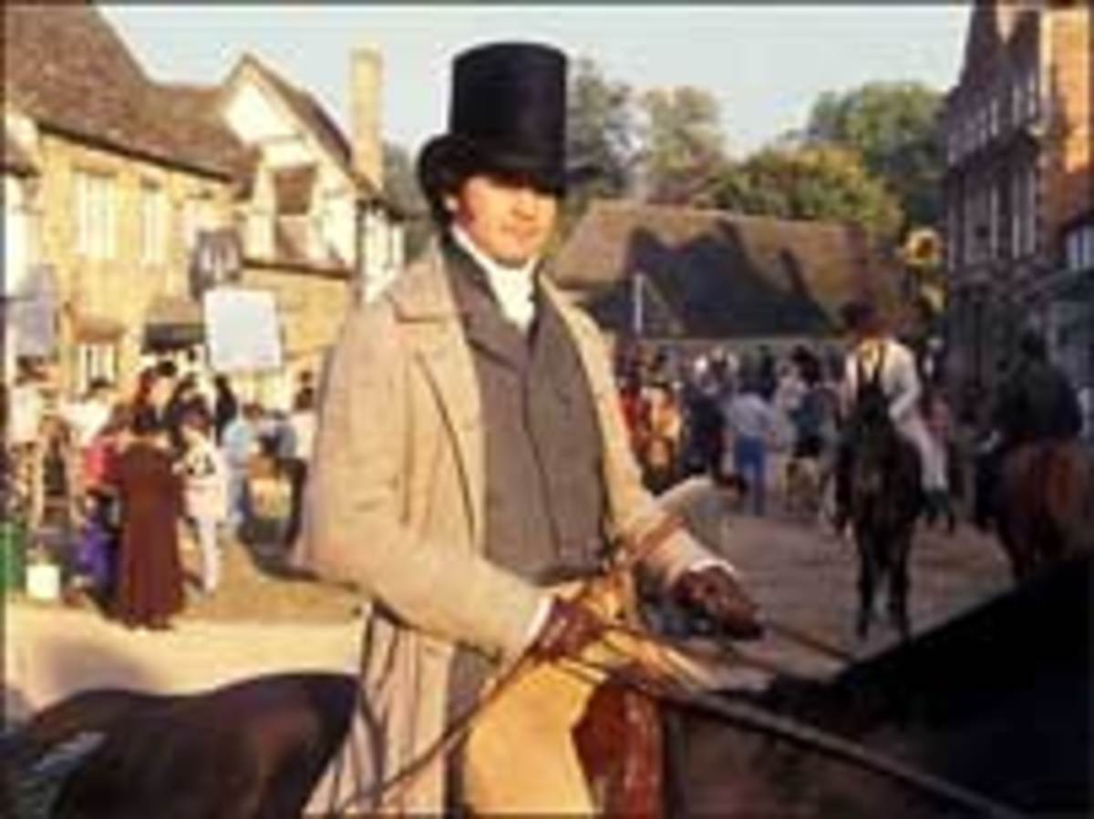 Colin Firth as Mr Darcy, on location at Lacock