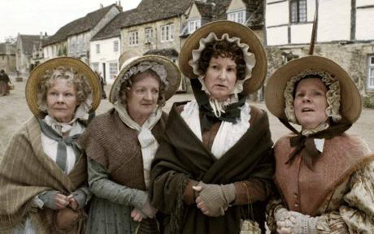 Judi Dench, Julia McKenzie, Deborah Findlay and Imelda Staunton starring in Cranford