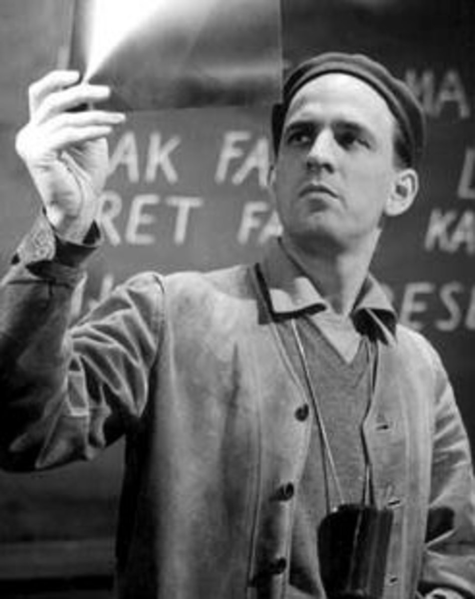"Ingmar Bergman during production of ""Wild Strawberries"" (1957)"