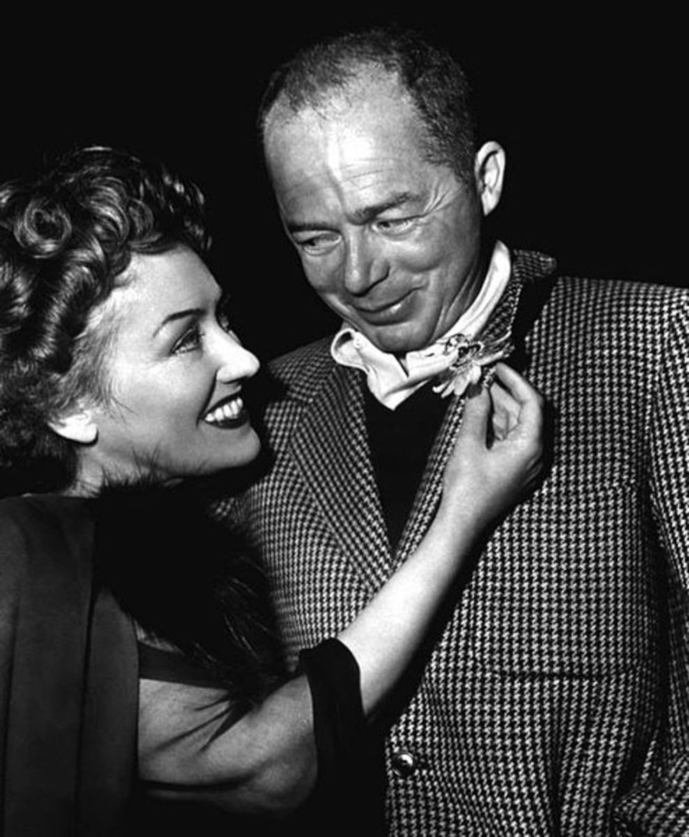 Billy Wilder with Gloria Swanson (c. 1950)