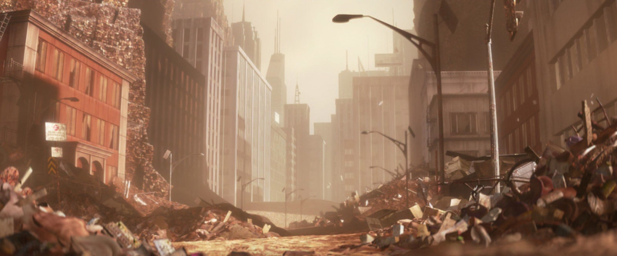 The abandoned Earth from WALL-E is also quite lonely.