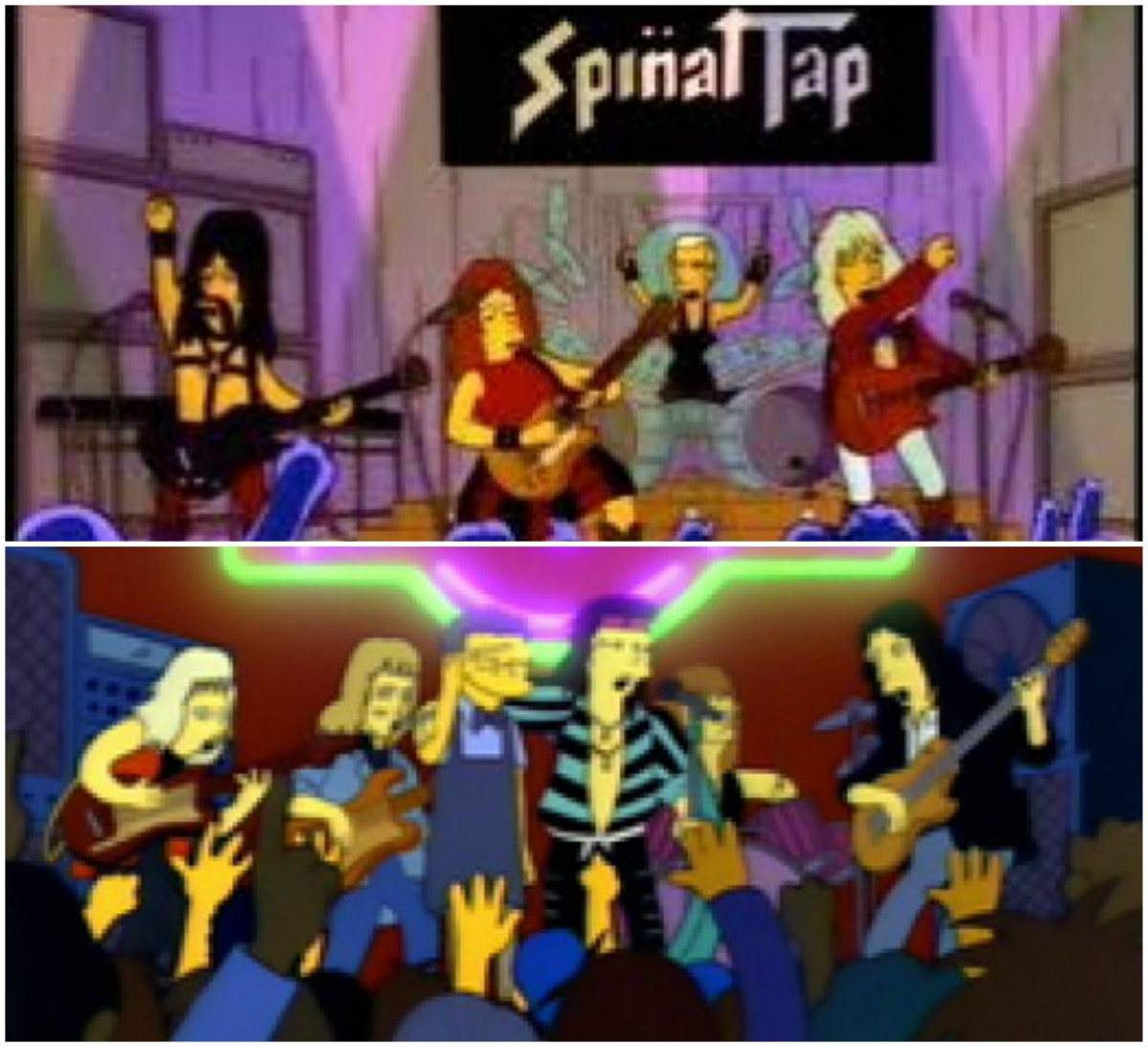 Top: Spinal Tap, bottom: Aerosmith
